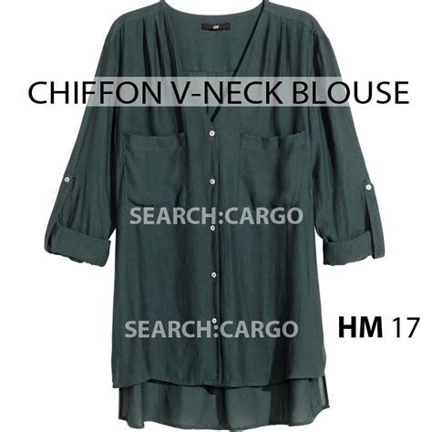 Doniya Plain Blouse Violet High Quality hm 17 100 authentic v neck chiffon blouse polkadot and