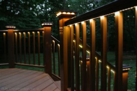deck lighting ideas led strip lights deck lighting outdoor spaces