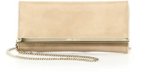 Be D Greta Patent Clutch by Jimmy Choo Milla Patent Leather Suede Clutch In Beige