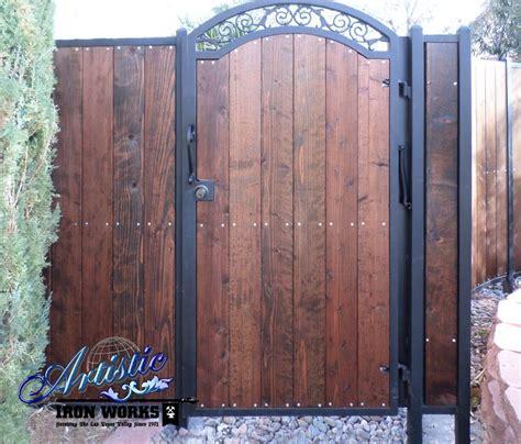 wrought iron and wood gate wrought iron gates