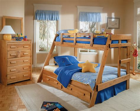 childrens pine bedroom furniture twin full solid pine bunk bed kids bunk beds