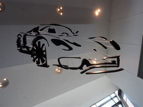 Porsche Just Opened Atlanta S Newest Theme Park Flatsixes Car Light Fixture
