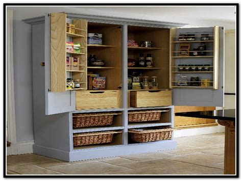 Kitchen Freestanding Pantry by Stand Alone Pantry Cabinets Roselawnlutheran