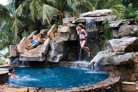 natural stone swimming pool waterfalls top ten grotto custom swimming pool with natural stone waterfalls and