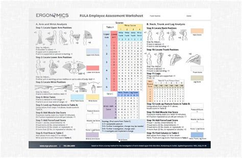 A Step By Step Guide To The Rula Assessment Tool Ergonomic Risk Assessment Template
