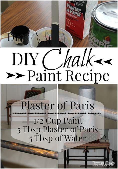 chalk paint recipe plaster of chalk paint recipe tempting thyme