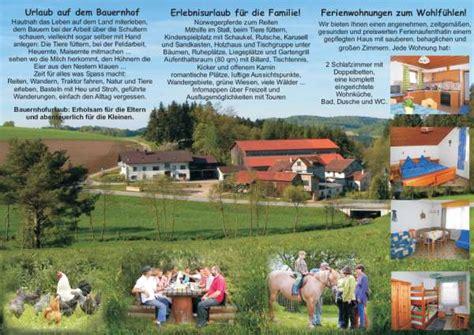 Musterbriefe Urlaub Flyer Erstellen Bauernhof Bauernhofurlaub Bayern Bayerischer Wald Oberpfalz