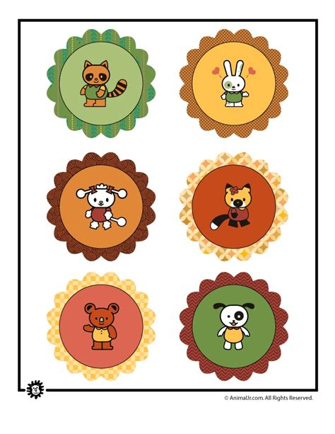 printable zoo animal cupcake toppers 17 best images about sheet pattern on pinterest animal