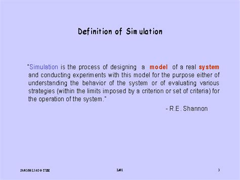 definition of simulation
