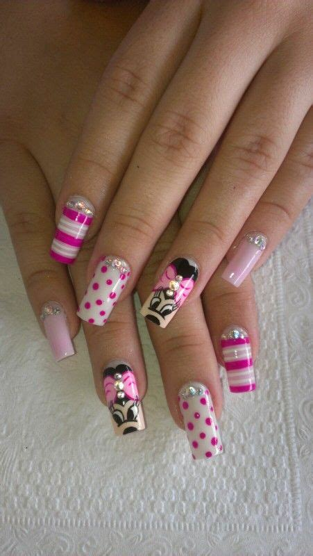 imagenes uñas en resina u 241 as en resina de minnie nails minnie u 241 as pinterest