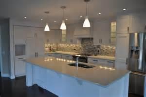 Shaker Kitchen Designs Photo Gallery Modern White Shaker Kitchen Modern Kitchen Calgary