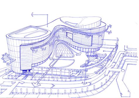 Home Design Exterior App by Exterior Sketch Of A Shopping Mall Concept Drawing By