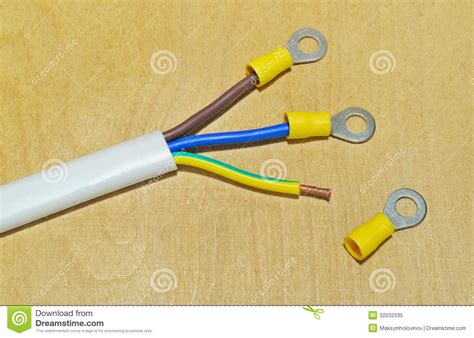 electric white wire royalty free stock photo image 32032335