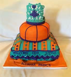 welcome all star prince turquoise purple orange baby shower cake cake by caroline diaz