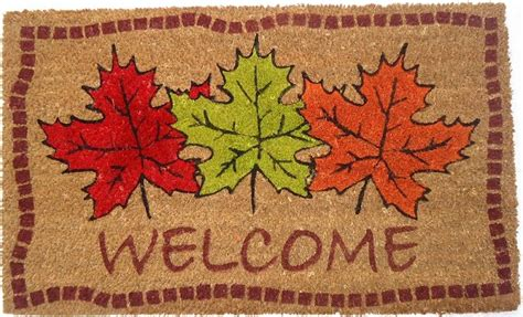 autumn maple leaves doormat coco mats coir mats coco