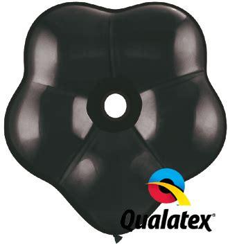 6in geo blossom onyx black latex balloon 50 ct