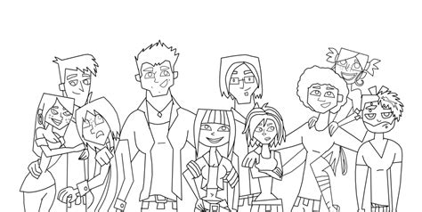 mike total drama free colouring pages