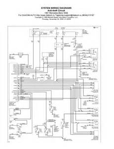 1991 mercedes 300e system wiring diagrams anti theft circuit schematic wiring diagrams