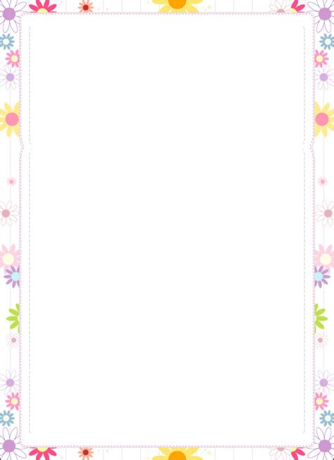 printable stationary borders create free custom teen letterhead and teenage stationary