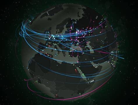network attack map the best live cyber attack maps cyberwarzone