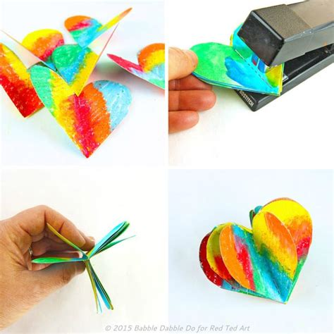 How To Make A 3d Image On Paper - 3d paper s day craft decoration