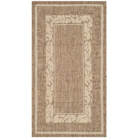 Safavieh Courtyard Brown Natural 2 Ft X 3 Ft 7 In 2 X 3 Outdoor Rug