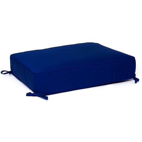 Cushion Ottoman Ultimatepatio Small Replacement Outdoor Ottoman Cushion With Piping Canvas True Blue
