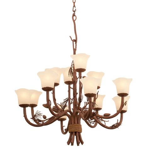 Chandelier Light Fixtures by Rustic Chandeliers Ponderosa Chandelier With 12 Lights