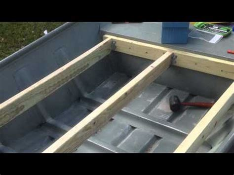 boat deck diy 12 foot jon boat casting deck modification how to save