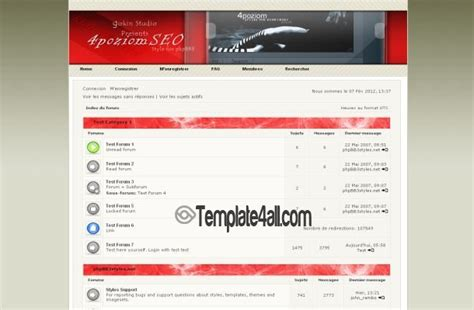 theme chrome red clean white chrome phpbb theme download