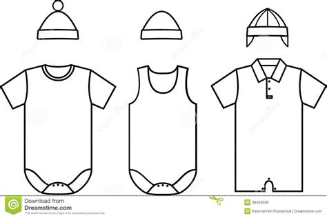 set of child baby wear vector stock vector image 38403528