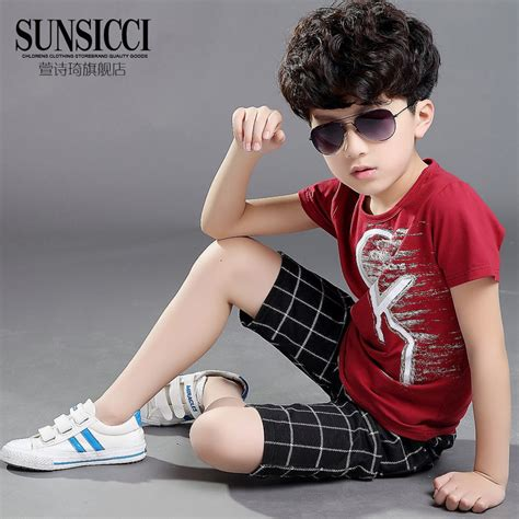 Set Dress Kid Natal aliexpress buy 2015 summer style boys clothing set fashion children clothing set