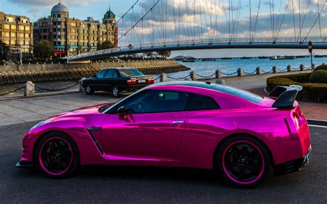 bieber chrome maserati chrome pink wrap for nissan and maserati