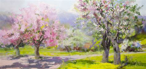 spring landscape abstract landscape paintings by yuri pysar in oil and