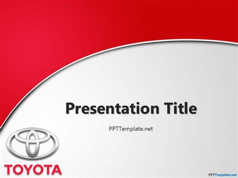 templates for logo presentation free toyota with logo ppt template