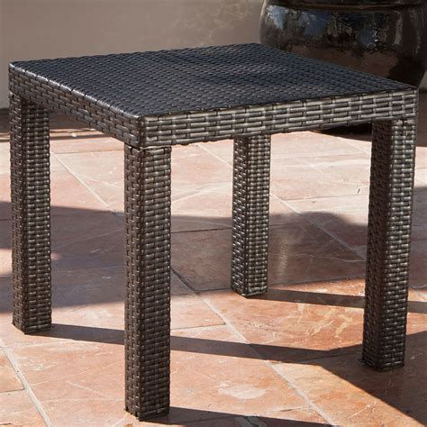 ottoman side table delano 5 outdoor chair and ottoman with side table