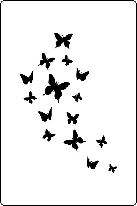 and stencils butterfly stencils wall large three butterfly stencil mix