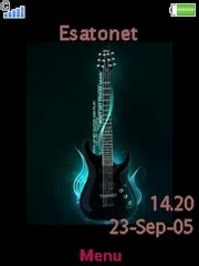 guitar theme download for mobile guitar theme for sony ericsson mobile phones