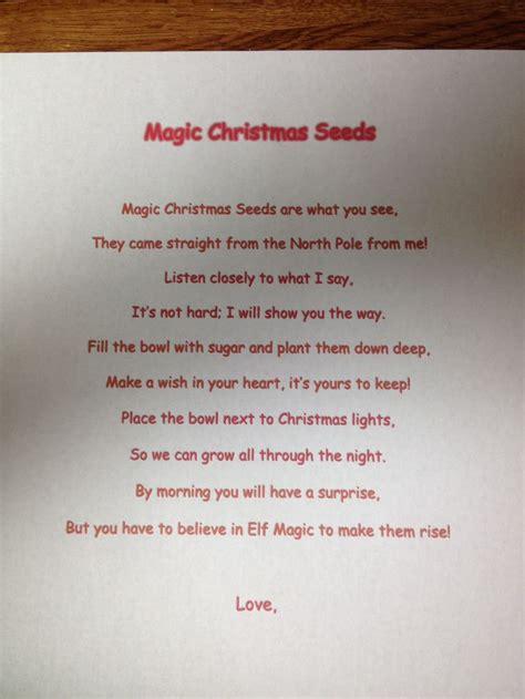elf on the shelf magic seeds free printable magic christmas seeds elf on the shelf hohoholiday cheer