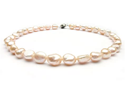 freshwater pearls for jewelry baroque pink freshwater pearl necklace 11 12mm aa
