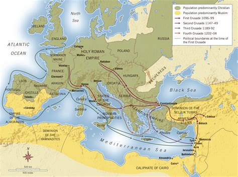 the crusades map during the high middle ages kmjantz