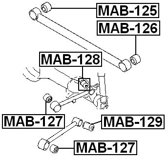 arm bushing for upper lateral control rod for mitsubishi
