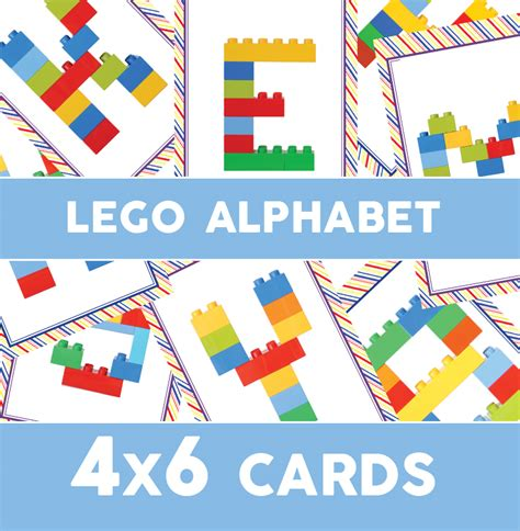 lego card templates lego duplo alphabet cards 187 one beautiful home
