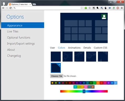 Opts For A New Start by Turn Chrome S New Tab Page Into A Windows 8 Start Screen