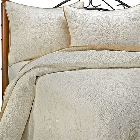 bed bath and beyond vallejo vallejo ivory bedspread and sham 100 cotton bed bath