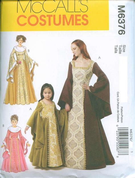 pattern medieval dress mccalls 6376 medieval renaissance gown dress sewing