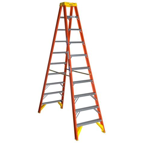 werner 10 ft fiberglass step ladder with 300 lb load