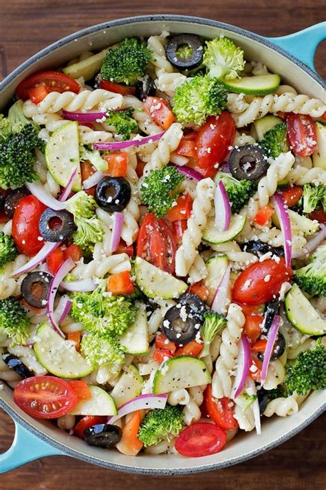 pasta salad vegetarian summer veggie pasta salad recipe vegetables summer