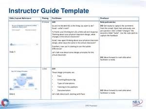 Trainer Manual Template by Facilitator Guide Template Wordscrawl