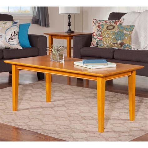 atlantic furniture coffee table in caramel latte